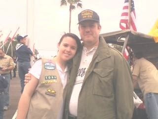 Veterans Day Parade with my daughter