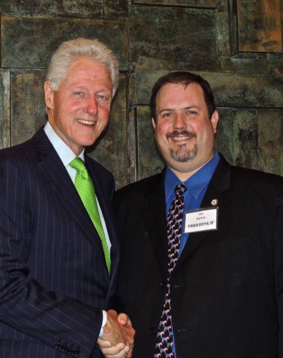 """I like your tie,"" said Bill Clinton."