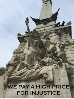 Indianapolis War Memorial Celebrating Defeat of Confederacy