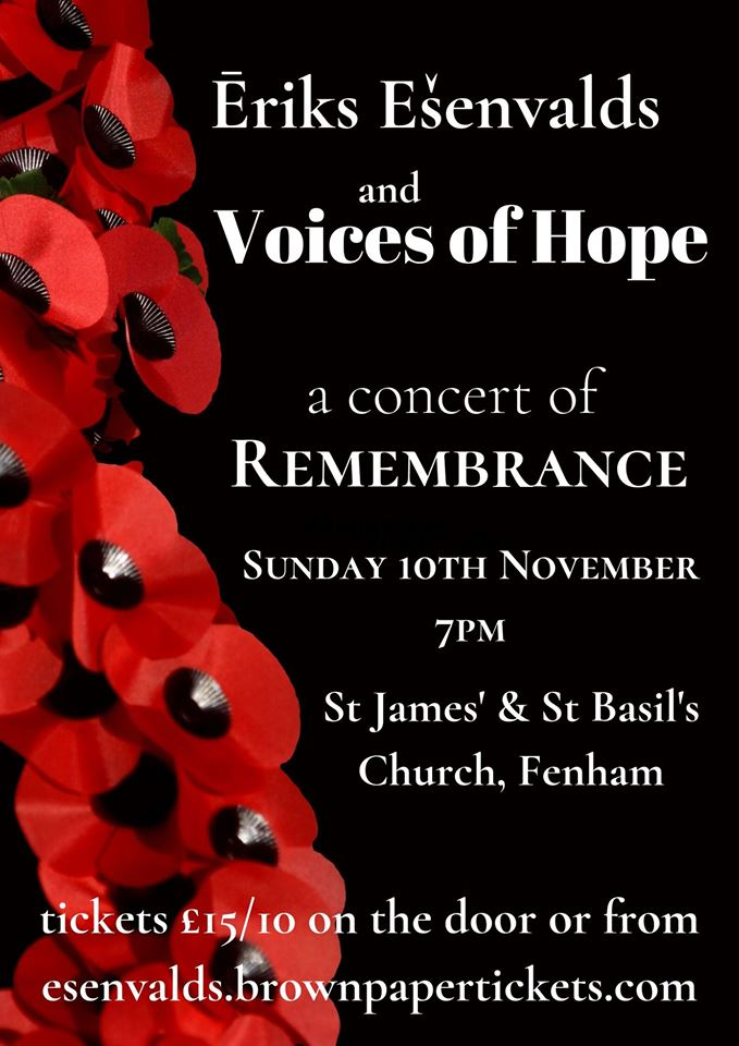 Music at J's and B's - Voices of Hope Remembrance concert
