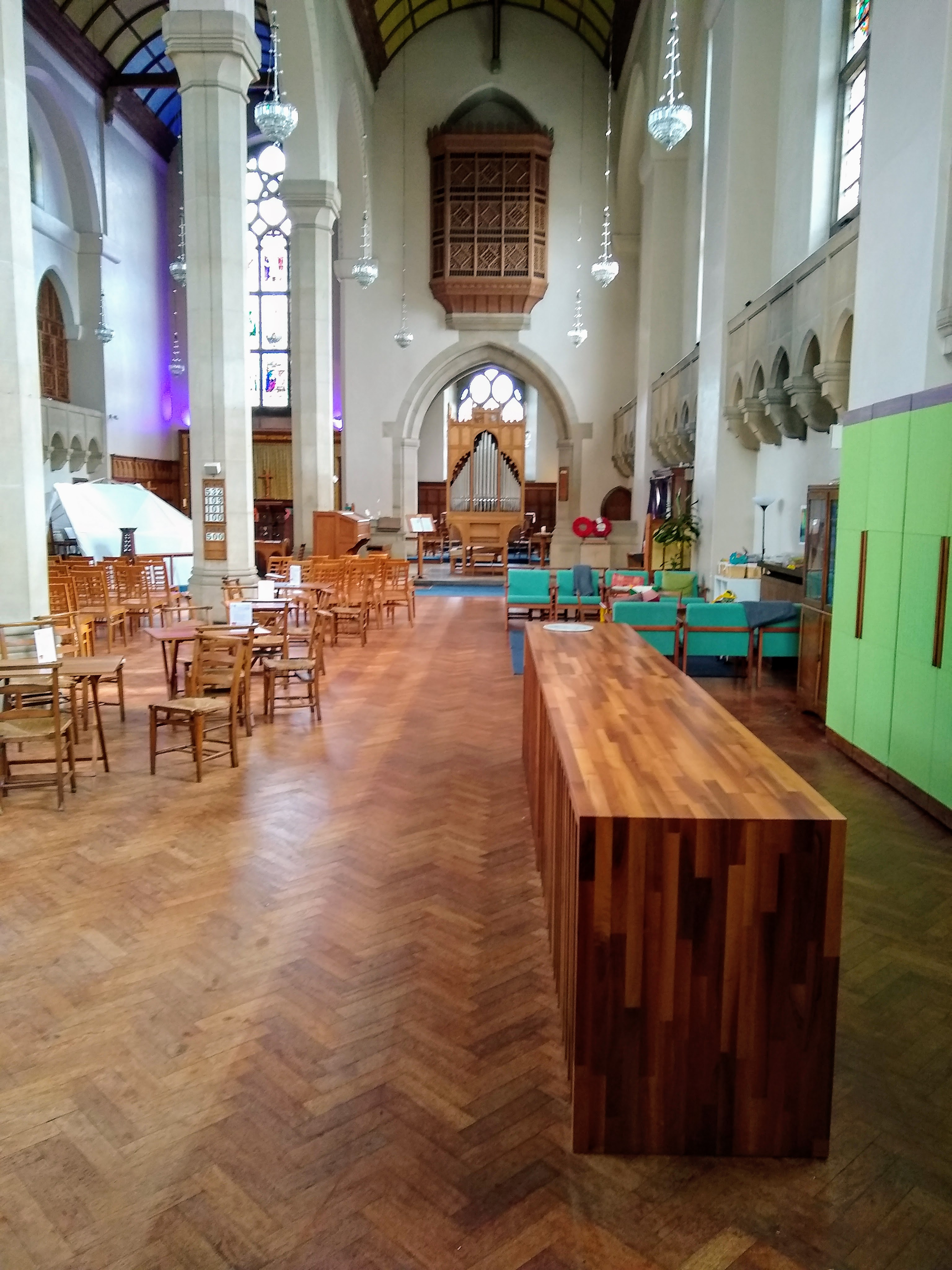 Our fabulous kitchen in the glorious J's and B's church