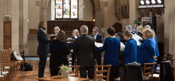 Choir at St. James' and St. Basil's