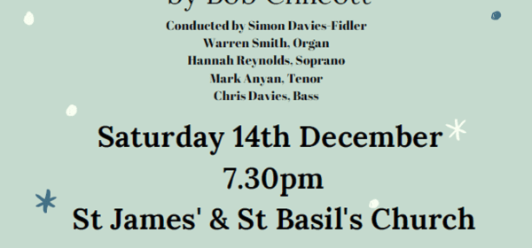 Christmas Oratorio Js and Bs singers