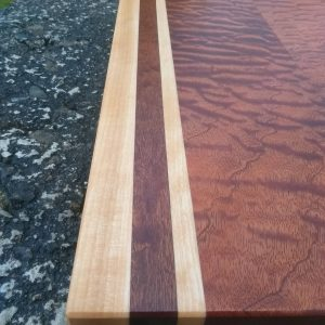 Figured Sapele serving board