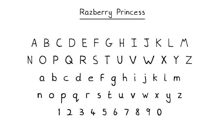 Razberry-Princess-Font