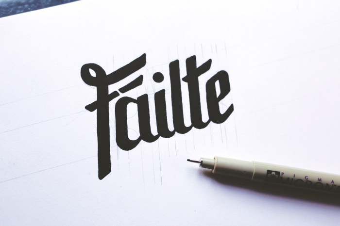 Fáilte Handlettering artwork