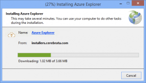 Installing Azure Explorer