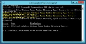 Restart-Service MSOnlineSyncScheduler