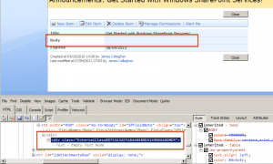 Empty rich text column in SharePoint 2007