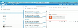 Outlook attachment store in OneDrive for Business.