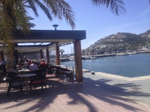 Lunch in the sun in Port d'Andratx