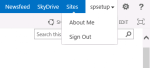 No sign in as different user missing in SharePoint 2013