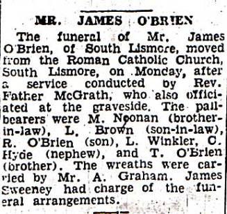 James Joseph O'Brien Obit