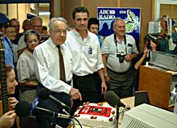From the Northern Rivers Echo: Alf Webb, the oldest licensed amateur operator in Australia, cuts the 100 year birthday cake for radio while Martin Corben, manager of 2NR waits for a slice of the action.