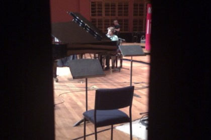 I snapped this shot of Tim Friedman from The Whitlams through the door during his soundcheck.