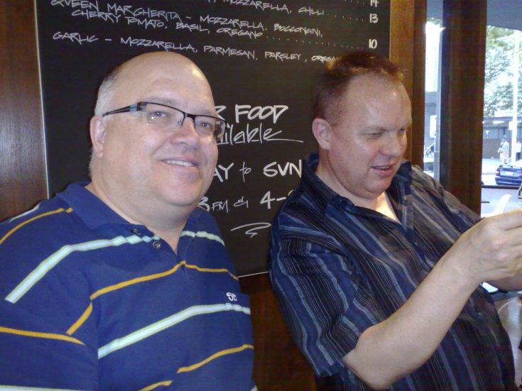 Grant Whittingham and Graeme Read