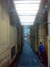 Human Bar Code in Laneways