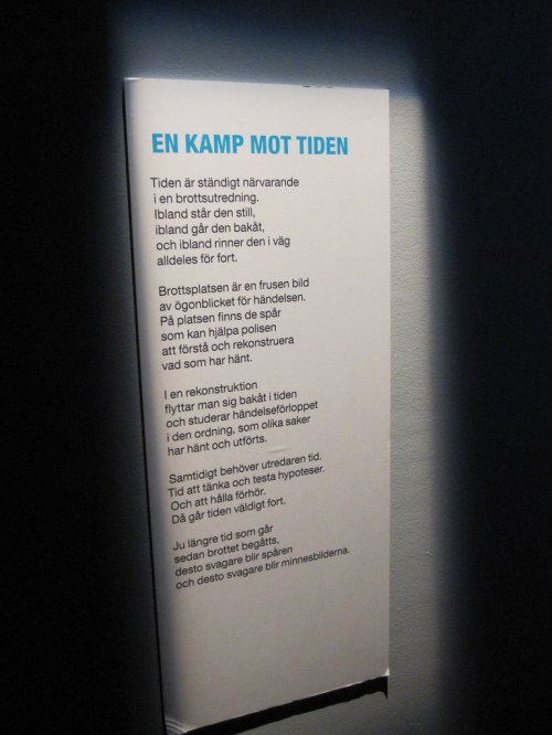 The struggle of time, a poem in the police museum