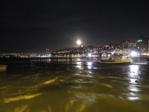 The full moon in Stockholm