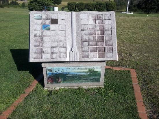 Winifred Atwell memorial at South Gundurimba near Lismore, NSW, Australia