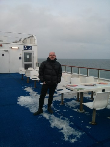 Catching the ferry from Germany to Denmark