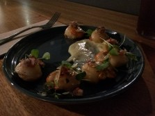 King Island scallops at the Quartermaster's Arms in Hobart