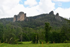 The Nimbin Rocks is a significant cultural site to the local Bundjalung people who believe the rocks were home to the Nmbngee, or Clever Men