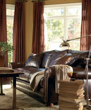 Lee Industries Leather Sofa