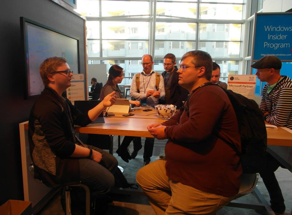 Talking with attendees on enterprise development