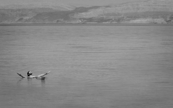 Floating in the Dead Sea, Palestine/Jordan border