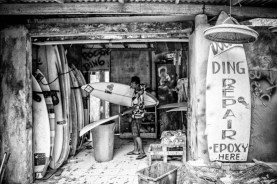 A garage...for surfboards
