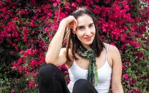 skinny scarf, green