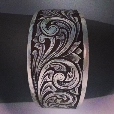 Engraving in Silver RIng