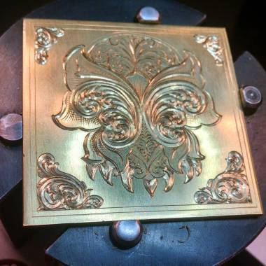 Luminesque Scrollwork on Brass