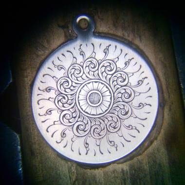 English Fine Scroll on Pendant