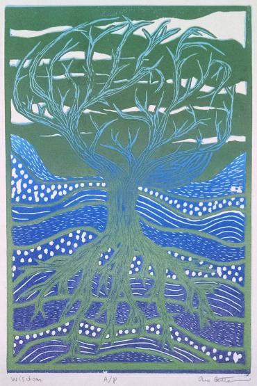 Anna Berthelsen, Two Block Relief Print, 9 x 6