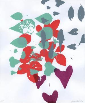 Student - Samantha Mae Richey, Theme: Found Plants Composition, Screenprint,