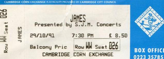 1991-10-29-Cambridge-Corn-Exchange-ticket