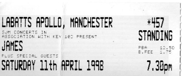1998-04-11-Manchester-Apollo-2nd-night-ticket