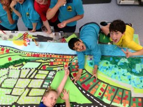 Churchlands' students doing serious work