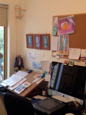 Bogre hanging in the corner of my studio