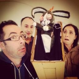 Me, Sigi, Brad and bunny wrangler