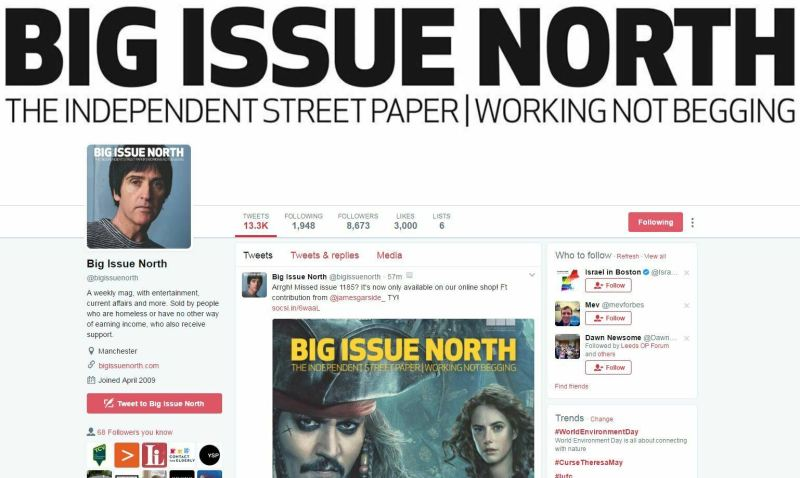 big issue north - featuring James Garside - Twitter