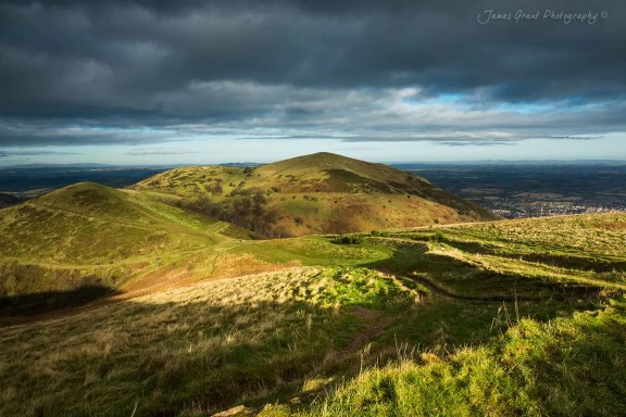 The Malvern Hills Under Stormy Light