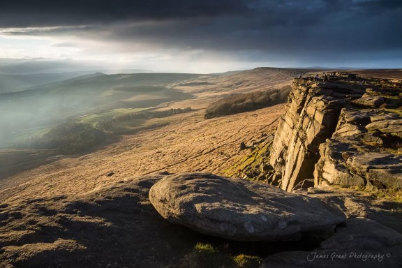 Stanage Edge Storms - Peak District Photography