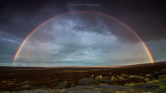 Stanage Rainbow - Peak District Photography
