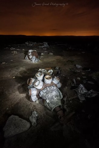 Engines  - Bleaklow Superfortress Crash Site - Peak District Photography