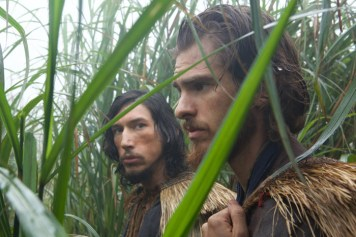 L-R: Adam Driver plays Father Garupe and Andrew Garfield plays Father Rodrigues in the film SILENCE by Paramount Pictures, SharpSword Films, and AI Films