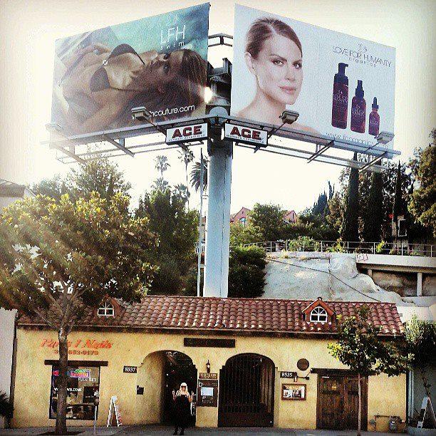 LFH COUTURE Billboard Photography: James Hickey Makeup & Hair: Satya Linak Owner, Designer & Model: Michelle Celeste