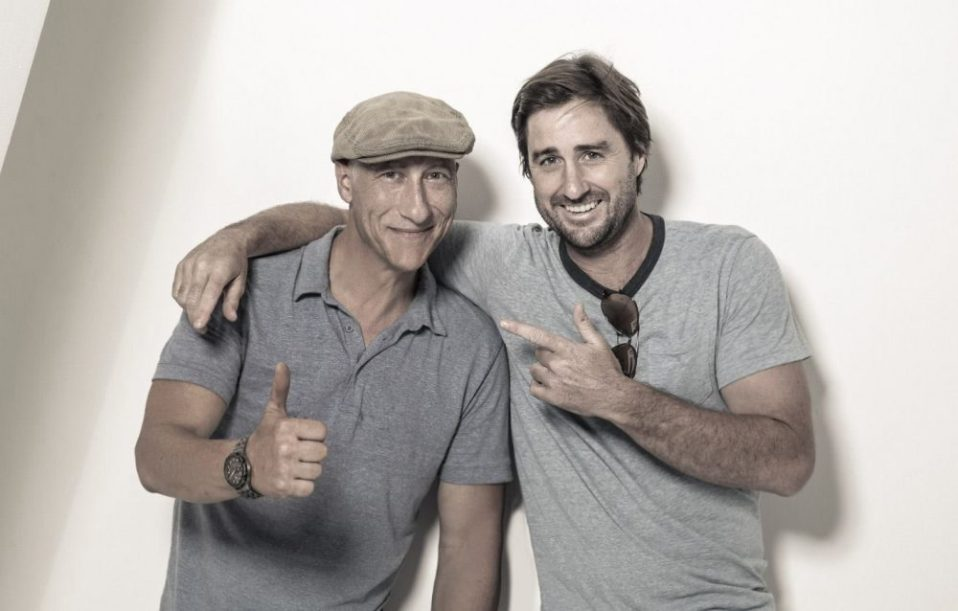 Luke Wilson behind the scene with James Hickey for Backstage Magazine